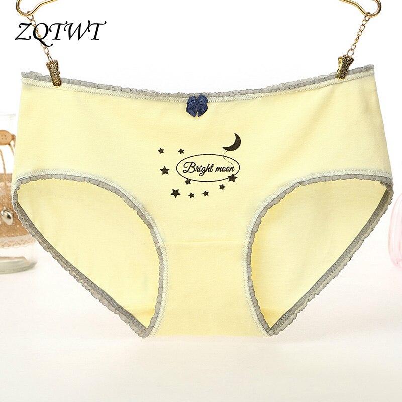 Buy ZQTWT Women's Cotton Briefs Sexy Panties Heart Underwear Women Comfort Seamless Panty Cute Girls Knickers Intimates J3NK213