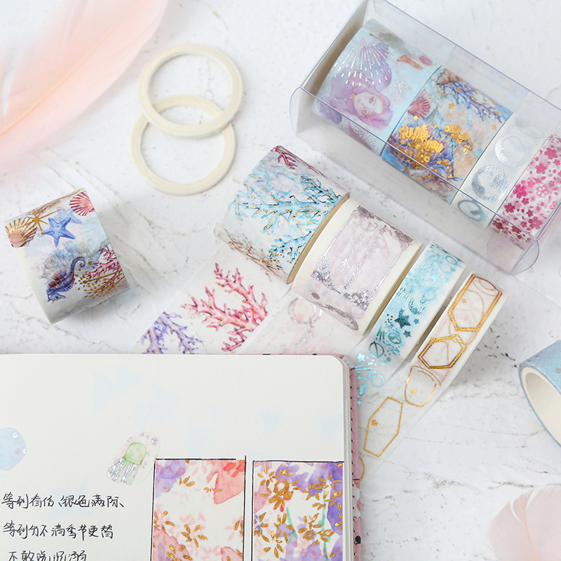 Washi Tape Set Masking Cinta Adhesiva Decorativa Vintage Fita Adesiva Kawaii Foil Cute Gold Scrapbook Stickers Flower Glitter
