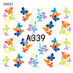 Image 3 - 12 Designs in 1 Sweet Butterfly Nail Wraps Nail Art Stickers Polish Watermark Nail Decals Decoration Manicure Tools LAA337 348