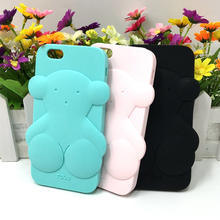 Bear Silicon Phone Case For iPhone 6 Cases 5s 5 5C SE 6s 6 Plus for iPhone 7 Case Plus For Huawei P8 lite Case P9 Lite Cover