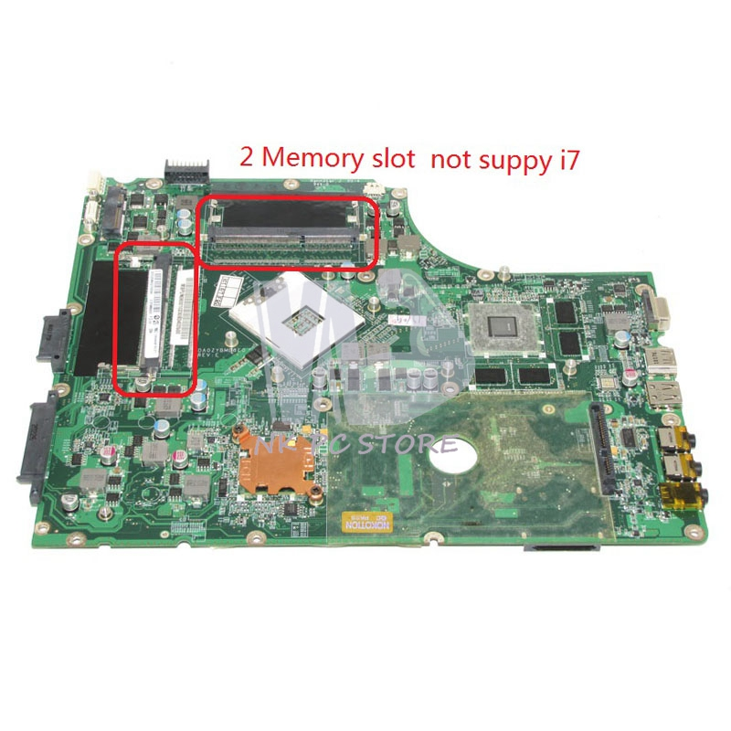 MBPUN06001 MB.PUN06.001 For Acer aspire 7745 7745G Laptop Motherboard DA0ZYBMB8E0 HM55 DDR3 2 Memory slot HD5650 Graphics