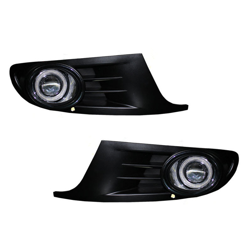 For Volkswagen Golf 6 MK6 LED Angel Eyes DRL Yellow Signal Light H11 Halogen / Xenon E13 Fog Lights with Projector Lens