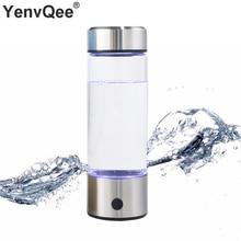 500ML Portable Hydrogen Rich Generator Water Filter Ionizer H2 PEM Rich Hydrogen alkaline Bottle Electrolysis Drink Hydrogen
