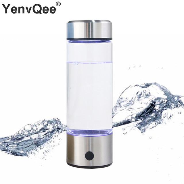 500ML taşınabilir hidrojen zengin jeneratör su filtresi Ionizer H2 PEM zengin hidrojen alkali şişe elektroliz içecek hidrojen