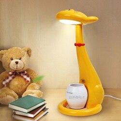 Kreatywny prezent kot lampa stołowa oko chronić LED lampa biurko ściemniania ochrona oczu lampa stołowa czytanie książki światła dzieci Kid prezent