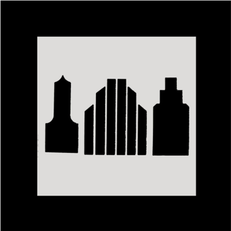 1PC Modern skyscraper Shaped Reusable Stencil Airbrush Painting Art DIY Home Decor Scrap booking Album Crafts