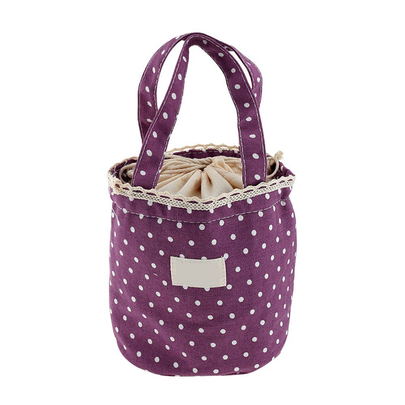 Home Storage Organization Bag Girls Kids Canvas Thermal Insulated Lunch Box Tote Cooler Bento Picnic Pouch Storage Bag Hot Sale