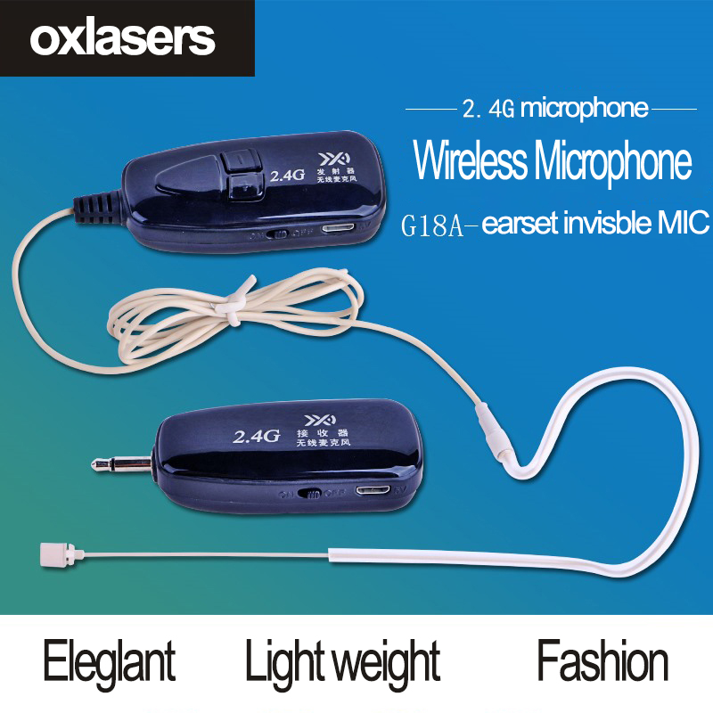OXLasers 2 4G wireless microphone invisible earset microphone skin color face microphone for speach conference and