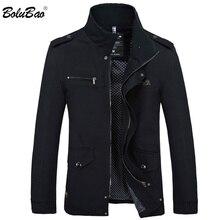 BOLUBAO Chaqueta de gabardina de moda para hombre, nueva chaqueta informal de otoño, ajustada