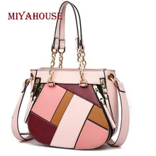 Miyahouse High Quality Shoulder Bag For Women Panelled PU Leather Messenger Bag For Female Candy Color Crossbody Bag Lady