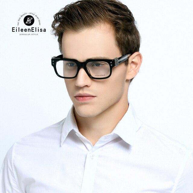 539759b80816 Fashion Men Square Frame Glasses Brand Designer Optical Myopia Glasses  Frame Eyeglasses Lunettes Transparente Homme with Box