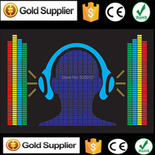 Headphone Equalizer el panel EL sound activated panel EL music equalizer panel led label without inverter