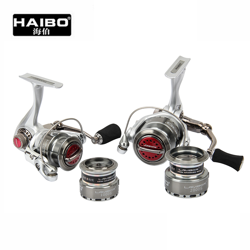 HAIbo LAMBOR1000S/2000S 8Ball Bearing Drag 6.5KG Double Spools High-strength Material Spinning Fishing Reel Rock Reels