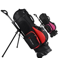 2020 Golf Rack Bag With Wheel Standard Stand Caddy Golf Cart Bag Big Capacity Hold 13 Clubs Ball Travelling Package D0648