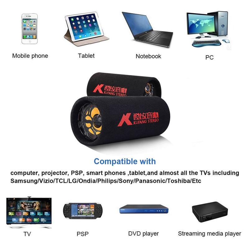Kostenloser Versand HiFi Stereo Audio Auto Leistungsstarke Subwoofer 200W 5 Zoll DC12V-24V Lautsprecher mit Romote Steuer