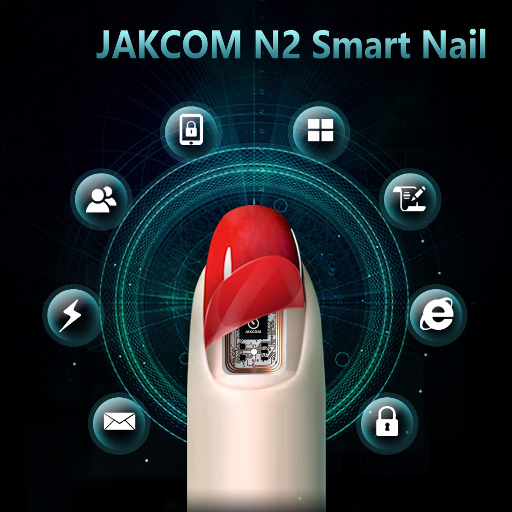 JAKCOM N2 Smart Nail New Multifunktionsprodukt av Intelligent Tillbehör Ingen Laddning Nöd Ny NFC Smart Wearable Gadget