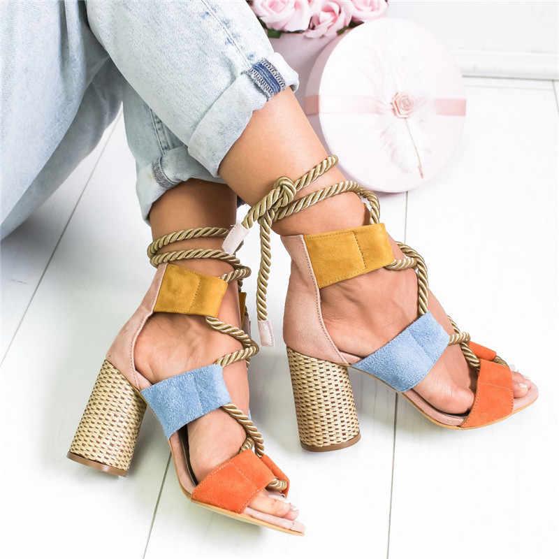 7cm letnie kliny espadryle na obcasie klinowym kobiety sandały obcas szpiczasty sandałki dziewczęce kobieta konopie Lace Up kobiety sandały na platformie