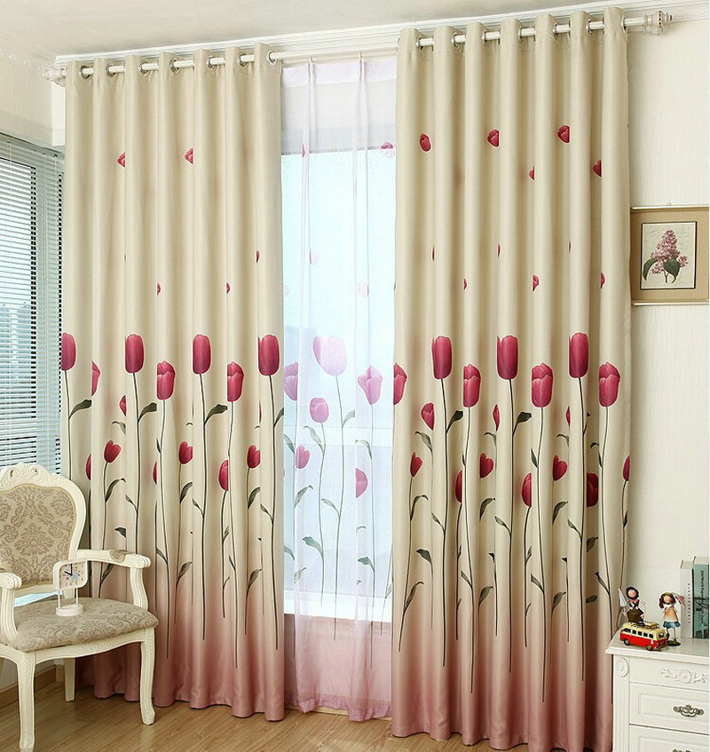 Aliexpress.com : Buy Rustic Window Curtains For Living Room/Bedroom  Blackout Curtains Window Treatment /drapes Home Decor Tulip/leaves/Floral  Pattern From ... Part 60