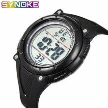 SYNOKE Для мужчин часы Элитный бренд светодиодный Водонепроницаемый светодиодный цифровой модные Для мужчин s часы, военный, спортивный стиль, Для мужчин; однотонные мужские часы для плавания