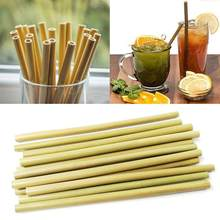 1pcs Bamboo Drinking Straw For Kitchen Party Birthday Wedding Reusabl Eco-friendly Wood Straws Tableware(China)