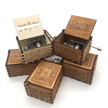 Wholesale Antique Carved Wooden Hand Crank Music Box Christmas Gift Birthday Party Casket Anonymity Decoration
