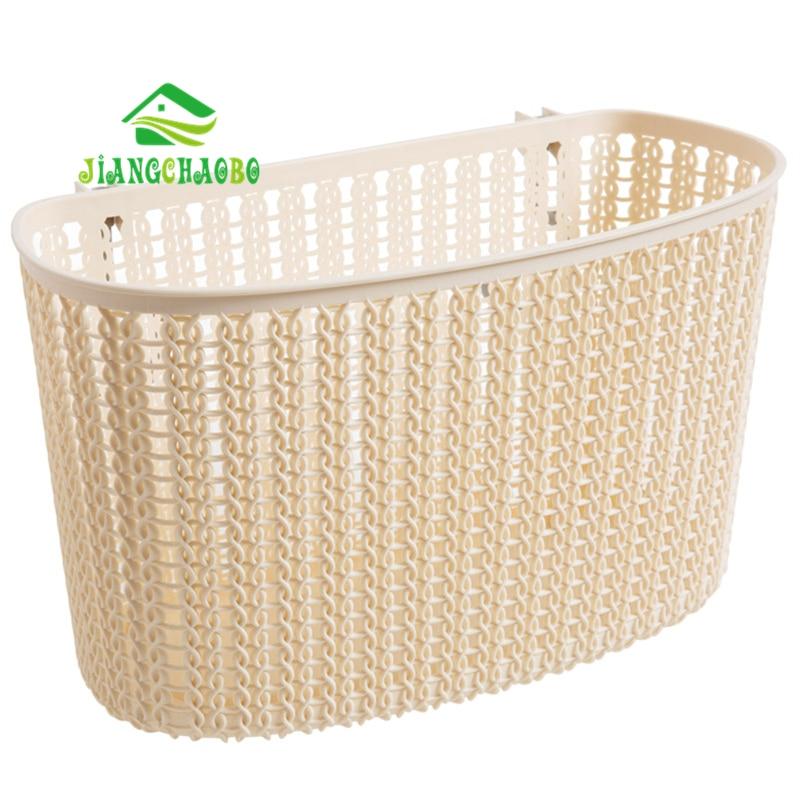 JiangChaoBo 1 Pcs Imitation Rattan Woven Storage Baskets Drain Free  Bathroom Shelves Bathroom Wall Mounted Bath Wash Basket In Storage Baskets  From Home ...