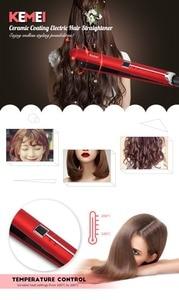 Kemei KM-2205 revestimiento de cerámica eléctrica plancha de pelo alipearl cabello unice pelo pantalla LCD de hierro plano Digital enderezar