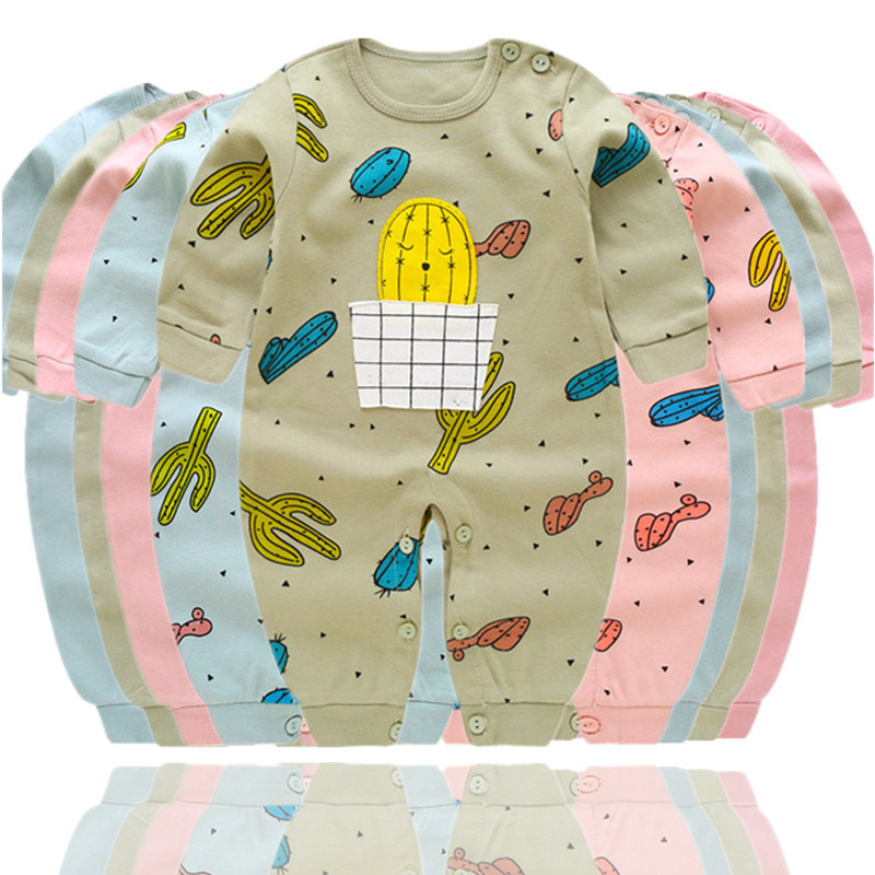 Newborn Baby Clothing Bebe Boys Girls Full-Sleeved Cotton Rompers InfantIl Costume Baby Cotton Jumpsuit 0-12 Months Clothes
