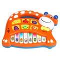 Moda Bebê Animal da Fazenda Piano Toy Crianças Musical Educacional Animal da Fazenda Piano Música Developmental Toy Frete Grátis