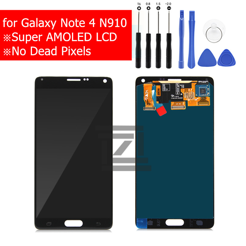 for Samsung Galaxy Note 4 LCD Display Touch Screen Digitizer Assembly for Galaxy Note4 N910 N910F