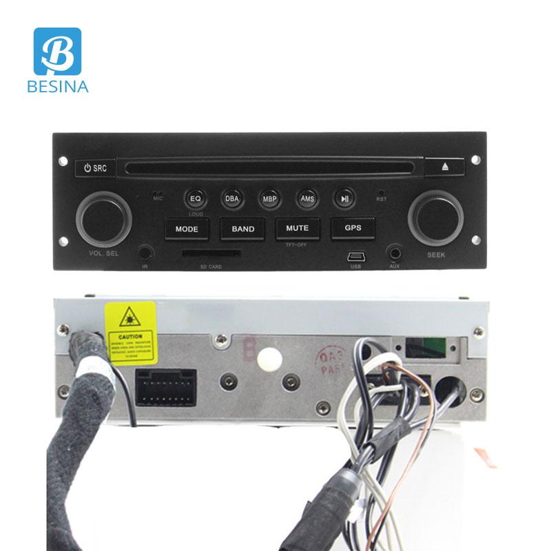 Besina 1 Din Android 9.0 Auto Dvd-speler Voor Peugeot 206 206CC Multimedia Autoaudio GPS Navigatie Radio Stereo WIFI RDS 1024*600