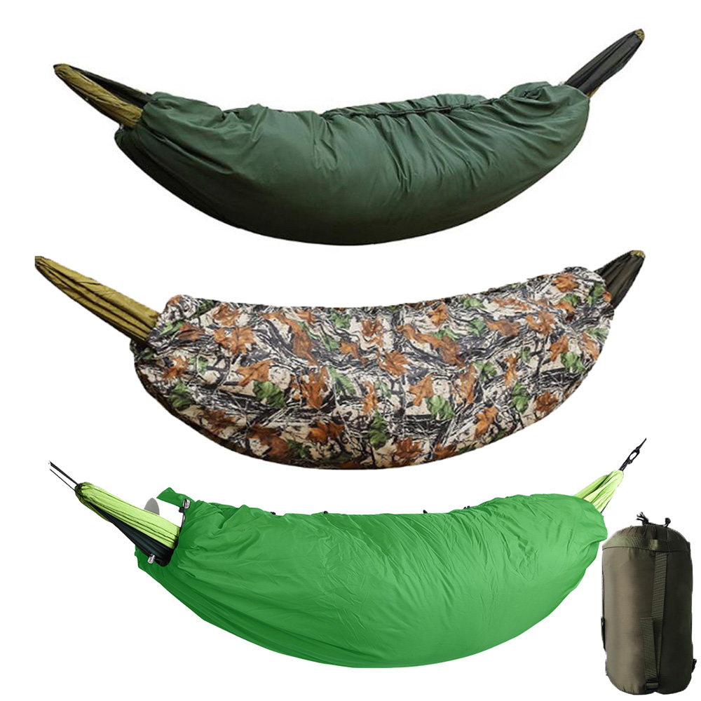 Full Length Envelope Hammock Quilt Winter Underquilt Winter Warm Under Quilt Blanket Cotton Hammock Sleeping Bag-in Sleeping Bags from Sports & Entertainment    1