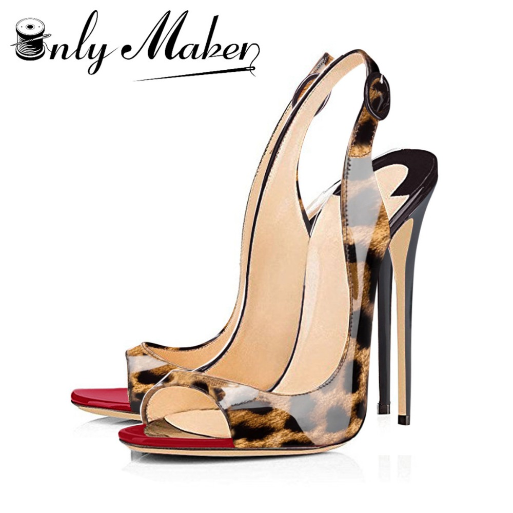 Onlymaker fashion Women's Thin High Heels Pumps Sandals Gold Ladies Summer Shoes 12cm Heels open toe fashion shoes Plus size 15 onlymaker prom dress shoes t strap peep toe sandals pumps shoes color block heels thin 12cm high sandals sexy heeled stiletto