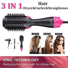 Multifunctional Hair Dryer Hair Comb Infrared Negative Ion Hot Air Comb Straight Dual-use Hair Dryer Shape Comb Salon Dry/Wet