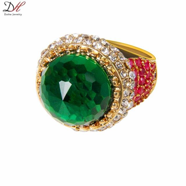 Daihe Brand Rn4020 Vintage Turkish Multi Gems Amethyst Emerald Ebay