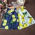 Baby Girl Clothes Princess Dress Sleeveless Summer Toddler Girls Dresses Lemon Print Kids Dresses for Girls Children Dress