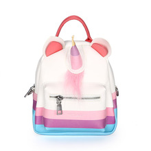 Mini Unicorn Faux Leather Backpack