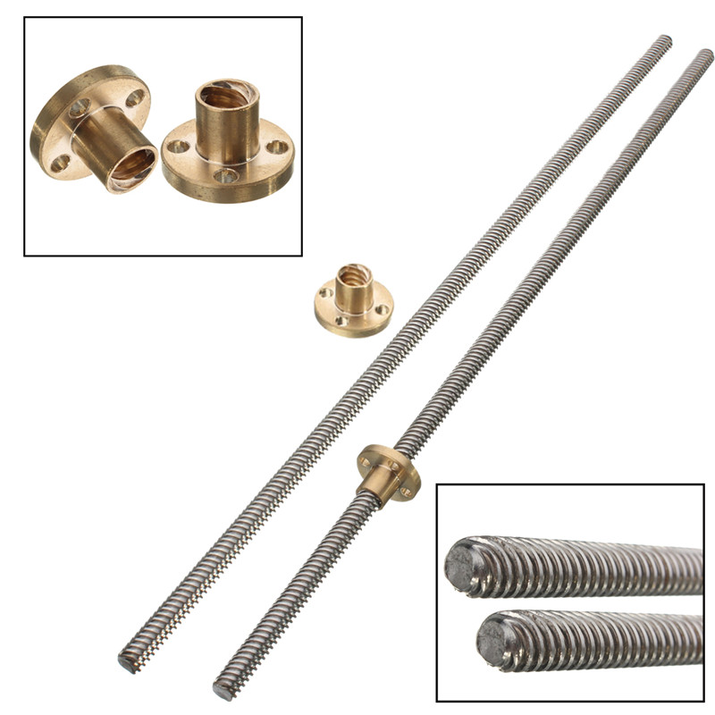 Best Quality T8 Lead Screw 350mm 8*350mm Thread 8mm Length 350mm stepper motor Linear Rail Bar Shaft with Brass Nut toothed belt drive motorized stepper motor precision guide rail manufacturer guideway