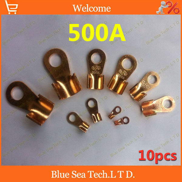O type 14.2MM OT-500A Copper Blade terminal,500A battery terminal for car E-bike etc.Large Current earth terminal