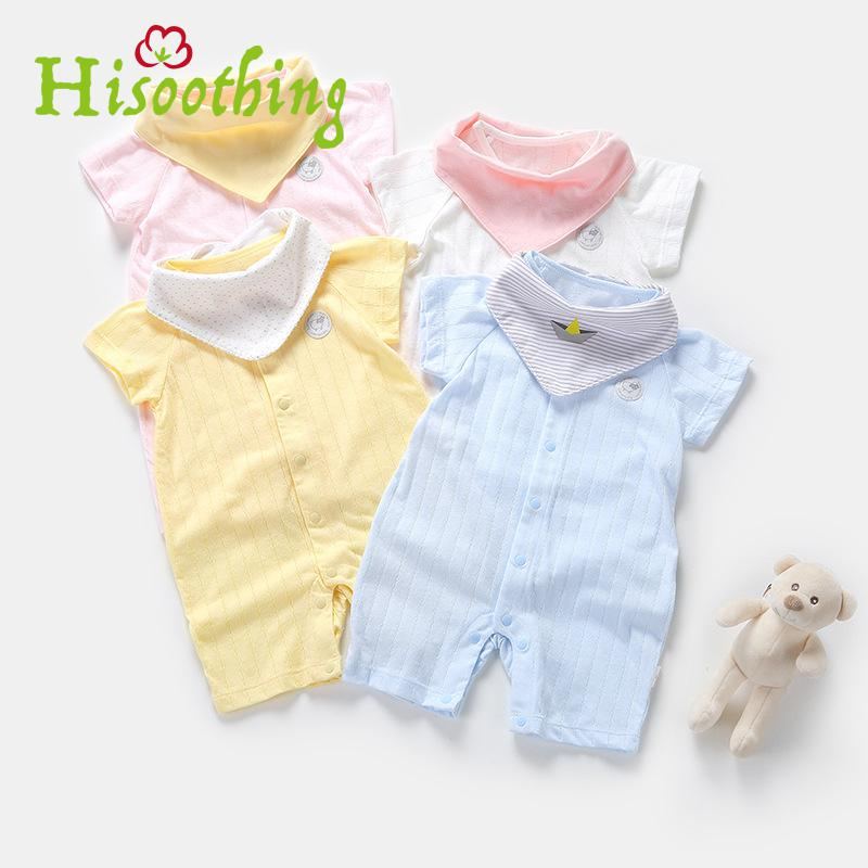 The Spring And Summer Of 2018 Newborn Baby Clothes Jumpsuit Romper Cotton Short Sleeved the lotus flower dream dew [] new spring and summer clothes in the morning suit sleeve sleeved taiji new special offer