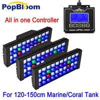 Popbloom аквариумный светодиодный фонарь аквариум лампы полный Specturm УФ Led Lignting высокое проникновение 48 дюймов Танк ромашка цепь MH3BP3
