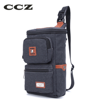 CCZ New Arrival Mens Chest Bag PVC Men Crossbody Bag Messenger Bags For Men Casual Style