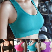 Ladies high quality sports bra with removable pads, summer fitness crop top, sexy gym workouts yoga wear for women