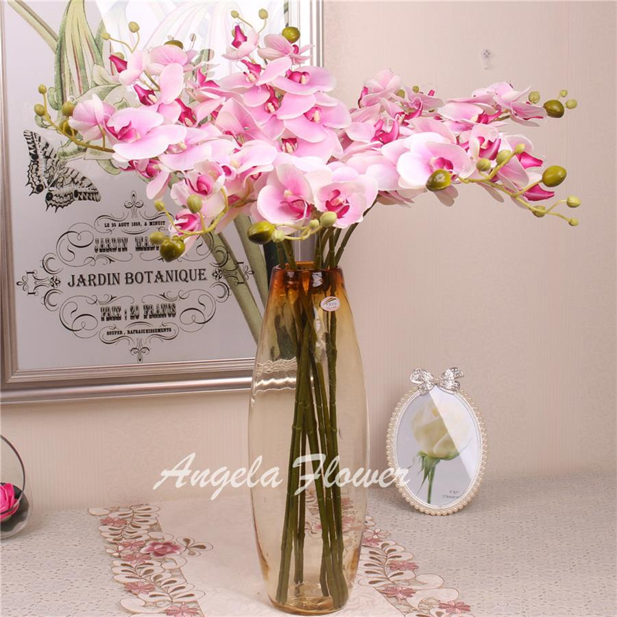 Hi Q 11pcs Phalaenopsis Artificial flower 78cm 7heads silk fake flower  decoration for wedding home hotel party garden decor-in Artificial & Dried  Flowers ...