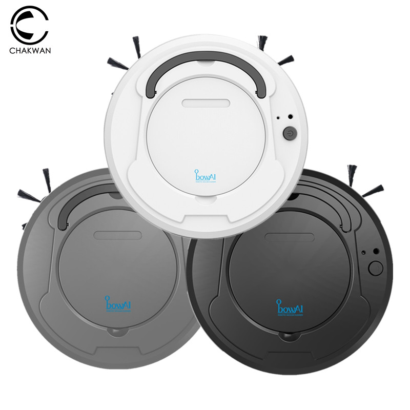 Robot Vacuum Cleaner For Home Office Rechargeable Auto Sweeping Dirt Dust Smart Mop Floor Corners Dust Cleaner Sweeper Washing(China)
