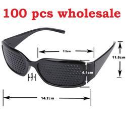 Пинхол очки 100 шт. новый черный мужской Vision Care Пинхол очки тренажер Зрение Видение Улучшение DHL Бесплатная