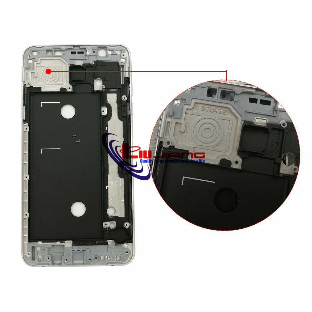 Image 3 - Original Front Frame Housing For Samsung J7 2016 J710F J7108 LCD Panel Middle Frame Bezel Case & Buttons + Adhesive-in Mobile Phone Housings & Frames from Cellphones & Telecommunications