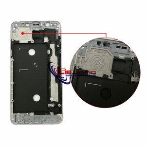 Image 2 - Oryginalna przednia rama obudowa do samsunga J7 2016 J710F J7108 Panel LCD wewnętrzna ramka Case i przyciski + klej
