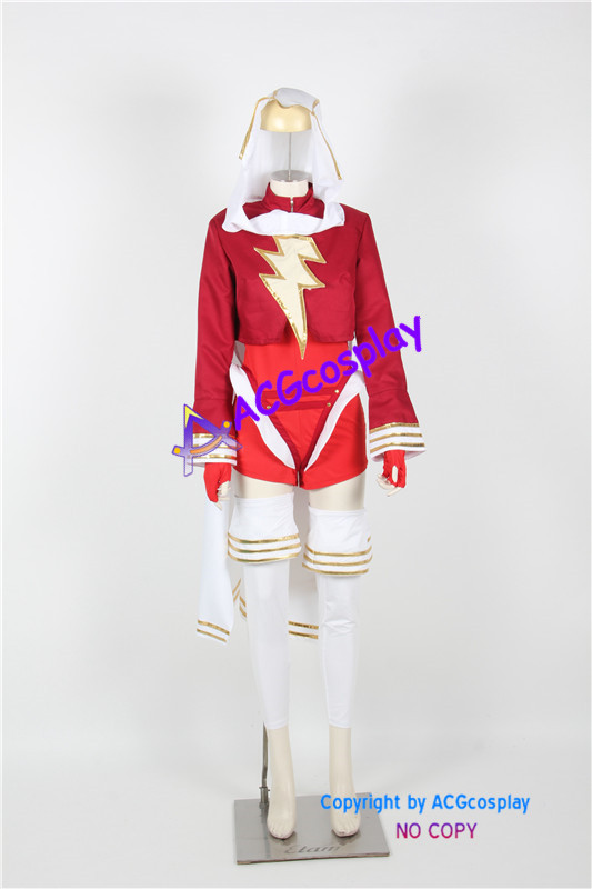 Mary Marvel Cosplay Costume acgcosplay include leggings and gloves