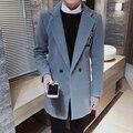 Inglaterra estilo preppy slim fit carta impressão casaco cor pura homens turn down collar mens jaquetas e casacos dos homens blusão NDY1-1